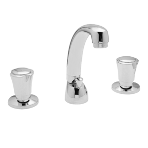"Art. BO1006/MOB WASH BASIN MIXER 3 HOLES WITH POP UP WASTE 1""1/4 WITH SWIVEL SPOUT – SERIE SOLE"