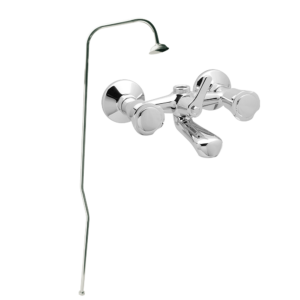 Art. BO1002 BATH AND SHOWER MIXER WITH STAND PIPE AND SHOWER ROSE – SERIE SOLE