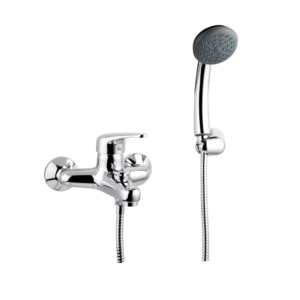 "Art. 01.09MD BATHTUBE SINGLE LEVER MIXER WITH SUPPORT, FLEX HOSE CM. 150 AND SHOWER – SERIE ""MODENAMIX"""